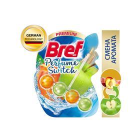 Блок для чистки и свежести унитаза Bref Perfume Switch «Персик и яблоко», 50 г