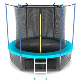 Батут EVO JUMP Internal 10 ft, d=305 см, с внутренней сеткой, нижней сеткой и лестницей, морская волна Ош