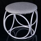 Банкетка круглая, цвет белое серебро