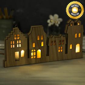 Светильник деревянный «Город», 33.0 × 15.6 см