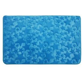 Коврик в ванную комнату Dasch Fresh «Звёзды», 50 х 80 см, цвет голубой