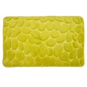 Коврик в ванную комнату Fresh «Камешки», 50 х 80 см, цвет лимонный