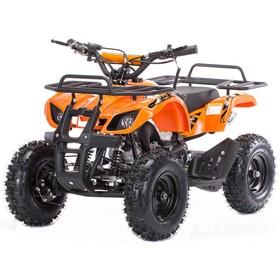Квадроцикл детский бензиновый MOTAX ATV Mini Grizlik Х-16 Big Wheel (большие колеса), электростартер, пульт родительского контроля, оранжевый Ош