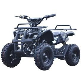Квадроцикл детский бензиновый MOTAX ATV Mini Grizlik Х-16 Big Wheel (большие колеса), электростартер, пульт родительского контроля, чёрный