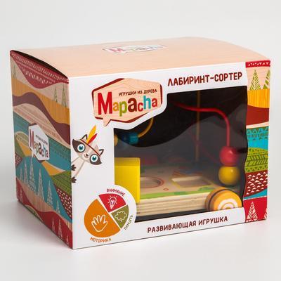 Развивающая игрушка «Лабиринт-сортер» на колесиках - Фото 1
