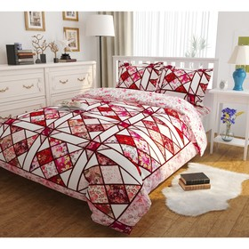 КПБ «Рубиновый витраж» 1,5 сп, размер 150 × 220 см, 145 × 210 см, 50 × 70 см - 2 шт.
