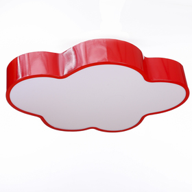 Люстра 'Облачко' LED 3 режима 68Вт красный 47,5х52х8 см Ош