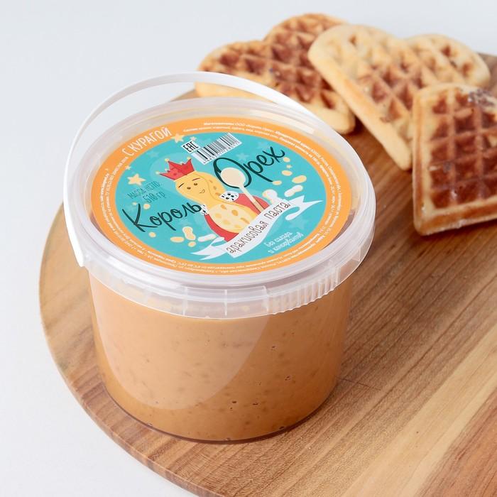 Арахисовая паста «Король Орех» с мёдом и курагой, 510 г
