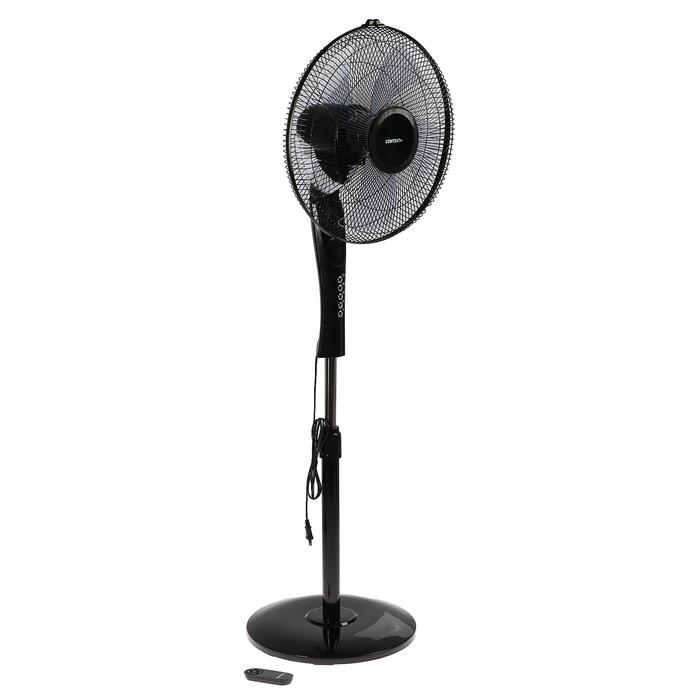 Вентилятор Centek CT-5016, напольный, 65 Вт, 1.3 м, 43 см, ПДУ, таймер, черный