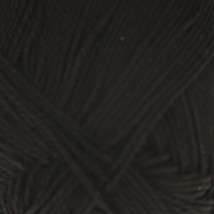 """Пряжа """"Бонди"""" 100% мерсеризованный хлопок 270м/100гр (003 черный)"""