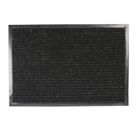 Коврик придверный влаговпитывающий, ребристый, «Стандарт», 40×60 см, цвет чёрный Ош