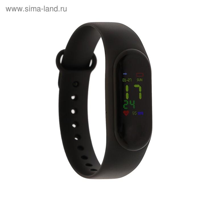 """Фитнес-браслет Smarterra Fitmaster Color, 0.96"""", IP67, цветной экран, пульсометр, чёрный"""
