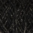 Шнур для вязания 3мм 97% хлопок, 3% люрекс 50м/130гр (чёрный/золот.люрекс)