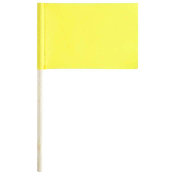 Флажок длина 25 см, 10x15, цвет жёлтый