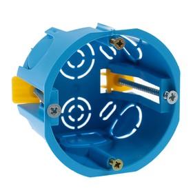 Коробка установочная TUNDRA, 68х45 мм, IP20, для полых стен, синяя Ош