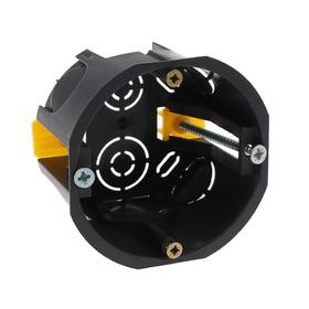 Коробка установочная TUNDRA, 68х45 мм, IP20, для полых стен, цвет черный