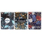 Блокнот А6, 80 листов на гребне «Цветочный орнамент», обложка мелованный картон, тиснение фольгой, выборочный лак, 3 вида МИКС