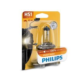 Лампа для мотоциклов PHILIPS, 12 В, HS1, Vision, +30% света Ош