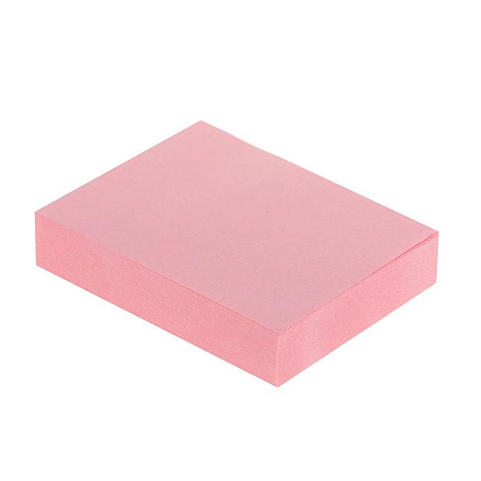 Блок с липким краем, 100 листов, 38 х 51 мм, Lamark, пастель розовая