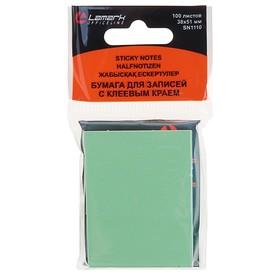 Блок с липким краем, 100 листов, 38 х 51 мм, Lamark, пастель зелёная Ош