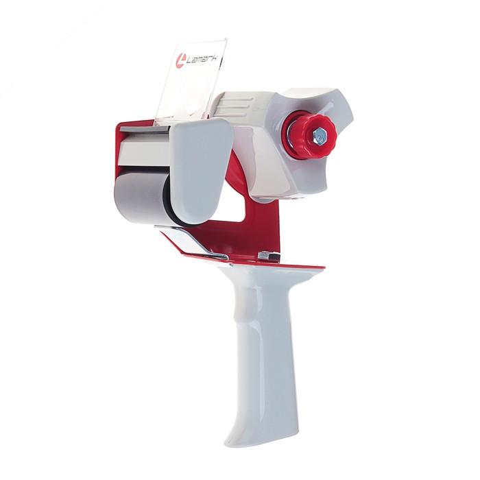 Диспенсер для упаковочной клейкой ленты Lamark 50мм, красно-серый