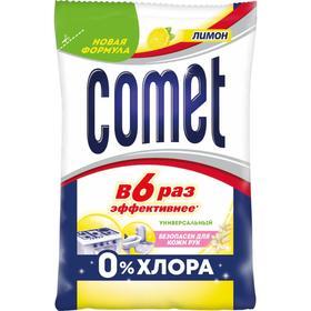 """Порошок чистящий Comet """"Лимон"""" нежность рук, 350 г"""