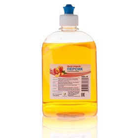 """Жидкое мыло """"Персик"""" пуш-пул, 0,5 л"""