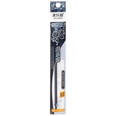 Стержень гелевый черный 0,5 мм для ручки со стираемыми чернилами L-131 мм (штрихкод на штуке) - Фото 1