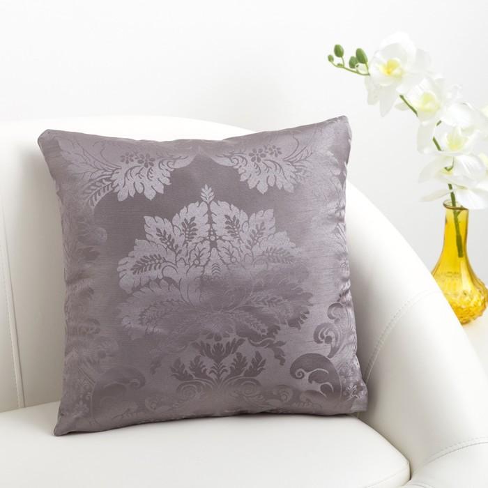 Декоративная подушка «Этель» 40х40 см Дамаск PEWTER