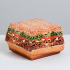 Коробка под бургер «Мощный сочный бургер», 16 × 15 см