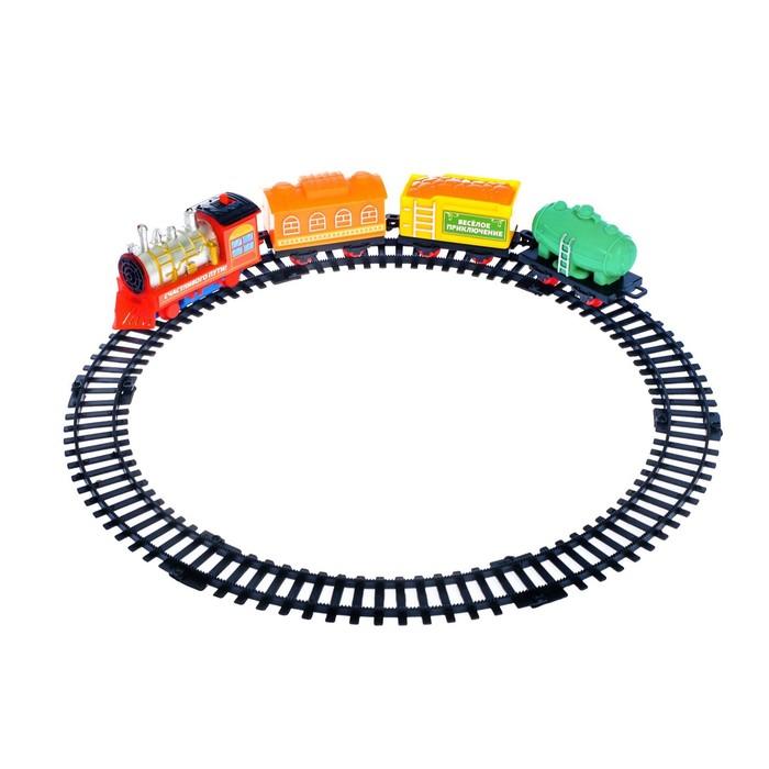 Железная дорога «Классический поезд», работает от батареек, в пакете