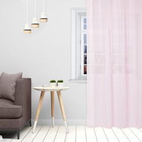 Тюль «Этель» 135×150 см, цвет розовый, вуаль, 100% п/э Ош