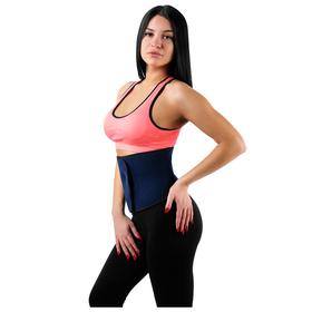 Пояс для похудения 103х21 см, цвет синий/красный Ош