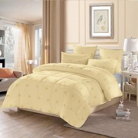Одеяло стёганое «Овечья шерсть», 140х205 см, чехол полиэстер, наполнитель овечья шерсть/полиэстер (110 г/м2)