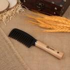 Расчёска, с деревянной ручкой, цвет «светлое дерево»