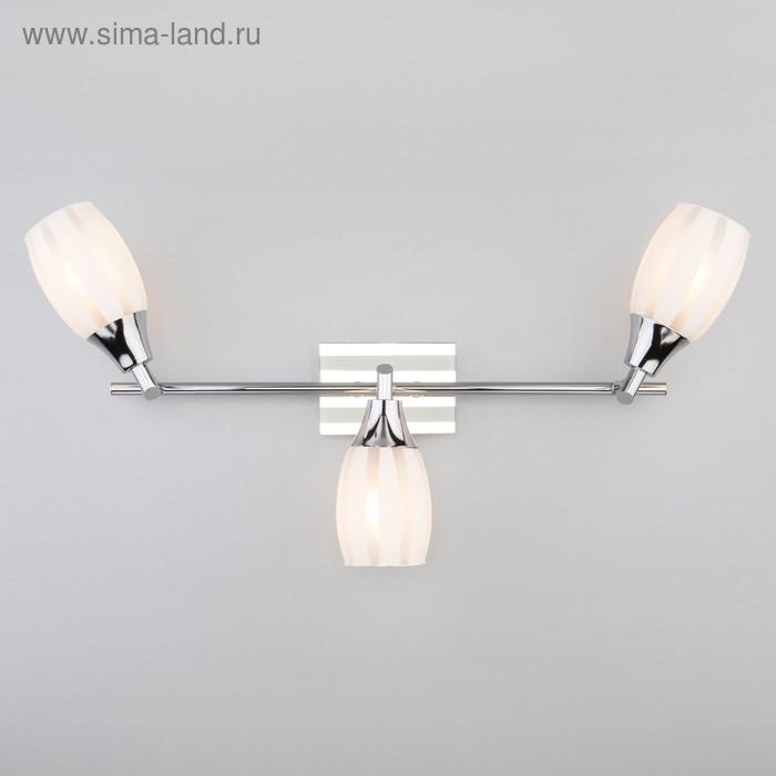 Светильник Meridiane 3x40Вт E14 хром, белый