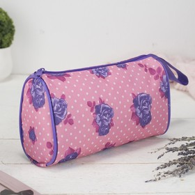 Косметичка-сумочка, отдел на молнии, с ручкой, цвет розовый Ош