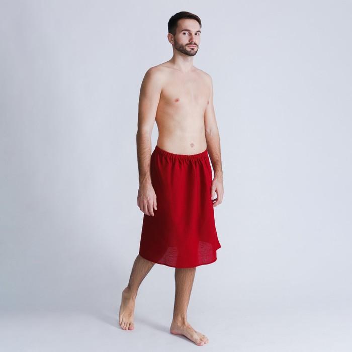 Килт для сауны муж 65х150, цввишня, вафполотно 160гм, хл100