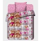 Детское постельное бельё 1,5 сп. «Любимый мишка» - Фото 1