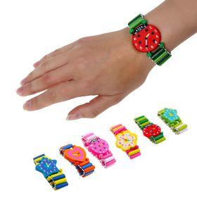 Часы детские, на резиночке, фигурные, цвета МИКС Ош
