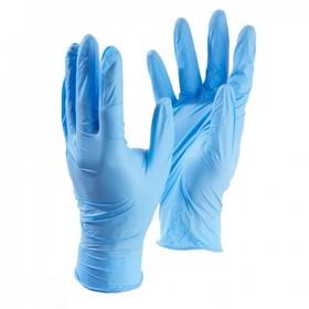 Медицинские перчатки нитриловые, нестерильные, неопудренные Benovy L, голубые