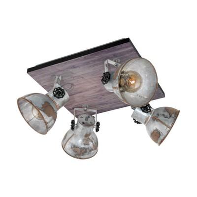 Светильник BARNSTAPLE 4x40Вт E27 коричневый, черный