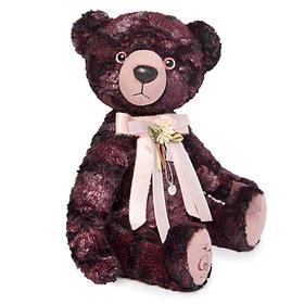 Мягкая игрушка «Медведь БернАрт», цвет бордовый металлик,34 см