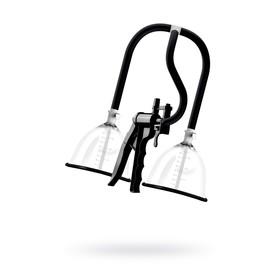 Помпа для груди SAIZ Premium - Small, силикон, ABS пластик, чёрный, 60 см Ош