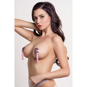 Пэстис в форме сердец Erolanta Lingerie Collection, с кисточками, цвет розовый Ош