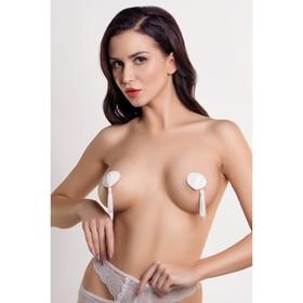 Пэстис в форме сердец Erolanta Lingerie Collection, с кисточками, цвет белый Ош