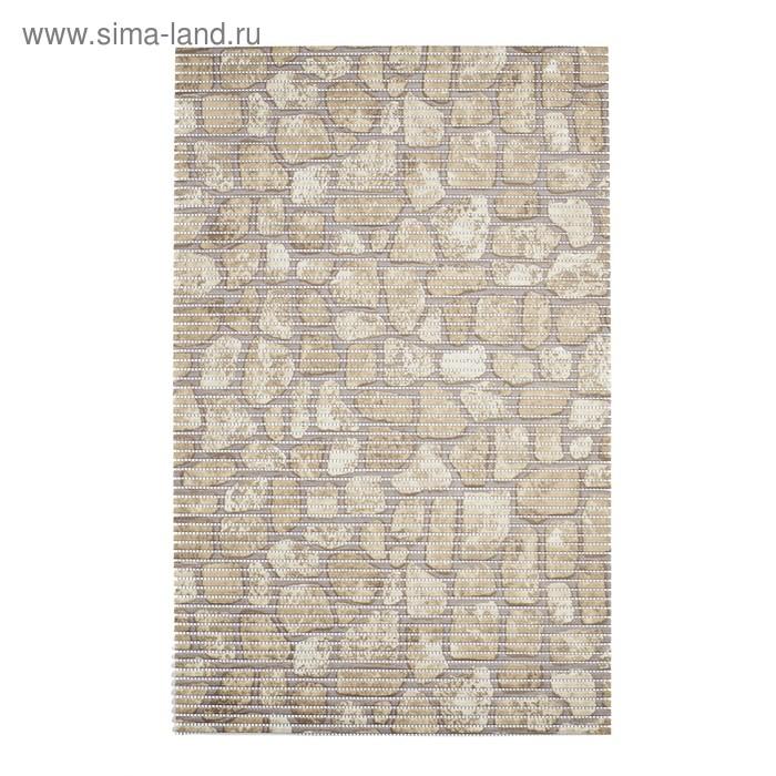 Коврик из вспененного ПВХ Brick, бежевый, 50x80 см