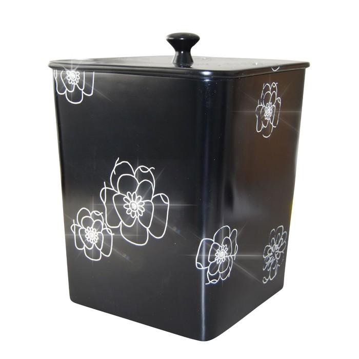 Ведро для мусора Diamond, 8,5 л, цвет чёрный