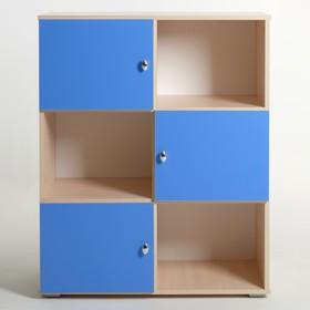 Шкаф «Алёнка», 810 × 1020 × 420, Дуб молочный/Синий Ош