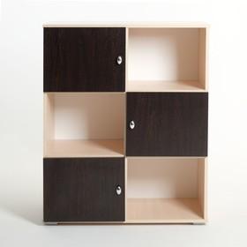 Шкаф «Алёнка», 810 × 1020 × 420, Дуб молочный/Венге Ош
